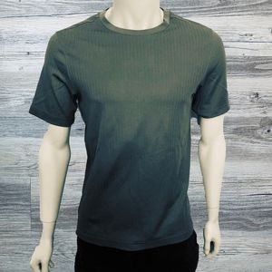 0488e17fc Croft & Barrow Dark Green Ruffled Casual Tee Shirt